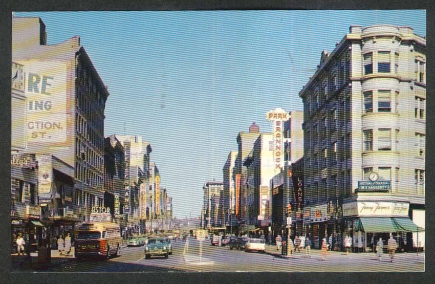 Brannock Astor Fleischman Loew Fanny Farmer Salina Syracuse NY postcard 1960