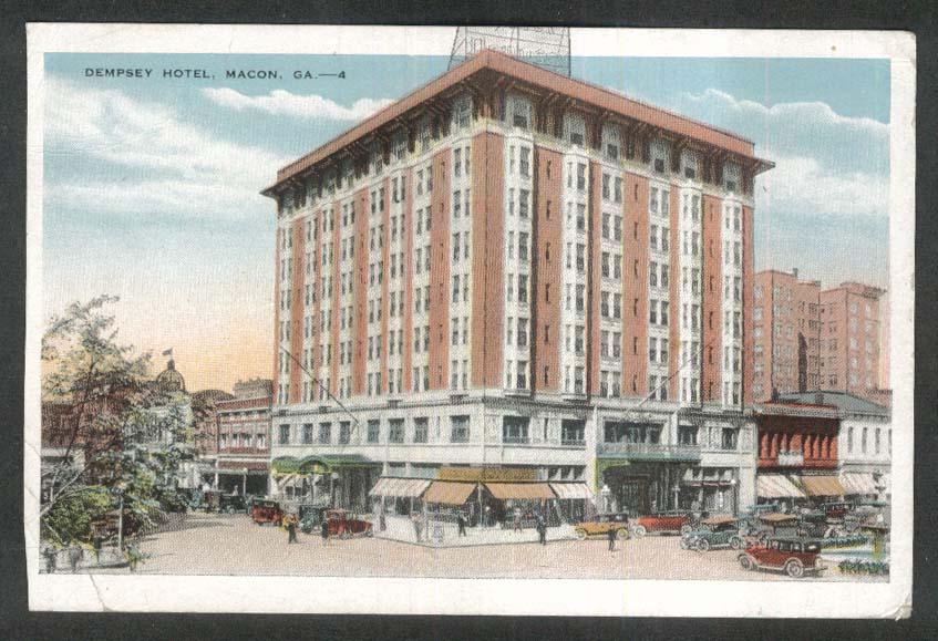 Dempsey Hotel Macon GA postcard 1948
