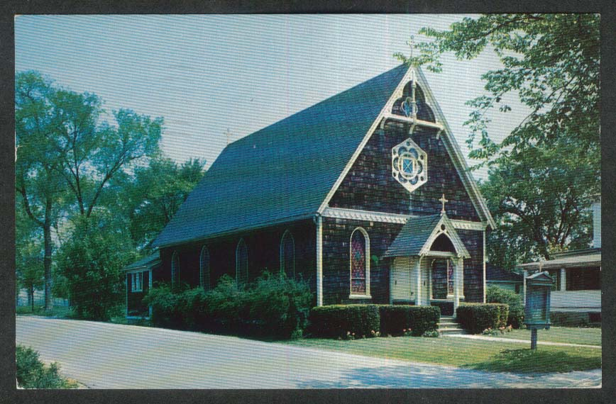 Holy Advent Episcopal Church Clinton CT postcard 1966