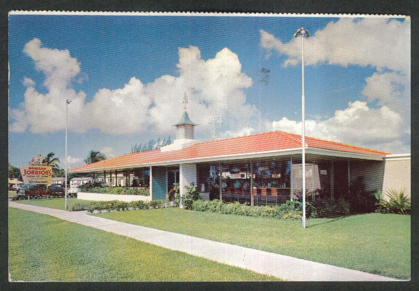Howard Johnson's Restaurant Savannah GA postcard 1955
