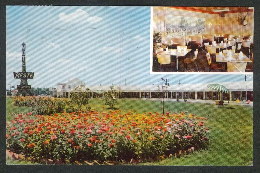 Reste Motel Emporia VA postcard 1959