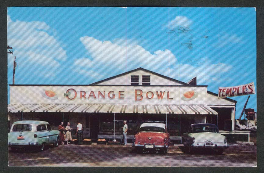Orange Bowl Fruit Growers Largo FL postcard 1956