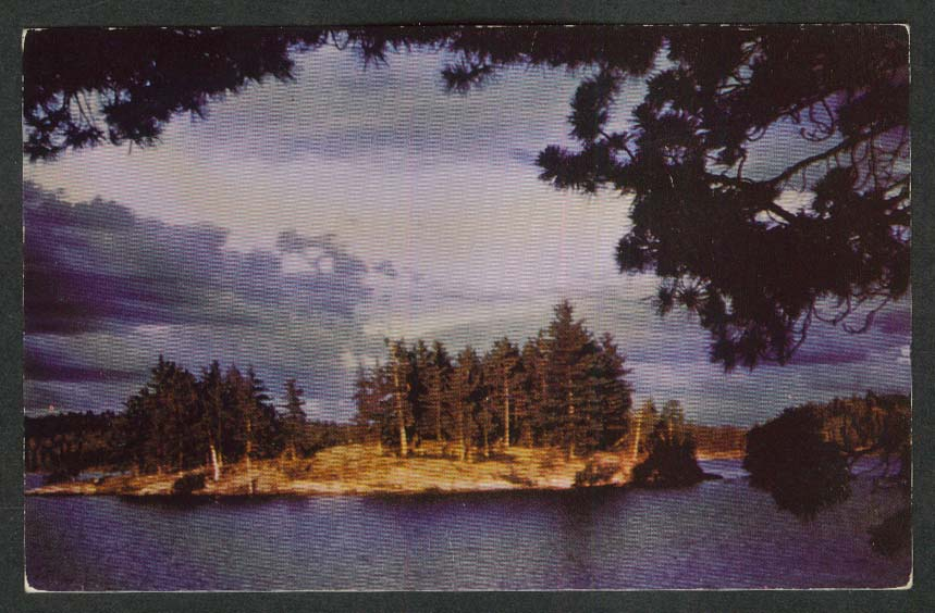 Isle of Enchantment Treasure Island Montevideo MN postcard 1955