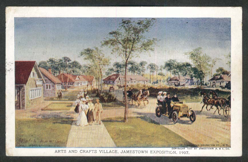 Arts & Crafts Village Jamestown Exposition 1907 postcard