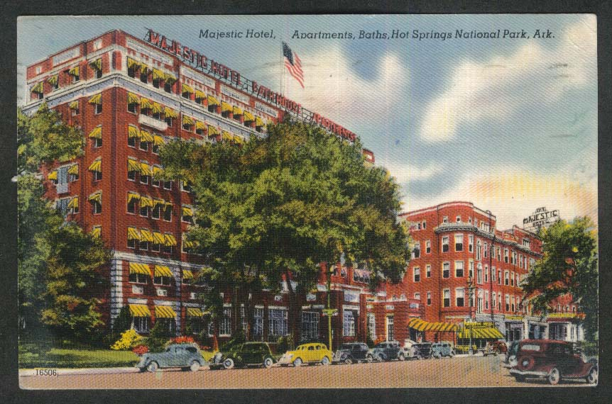Majestic Hotel Hot Springs National Park AR postcard 1947
