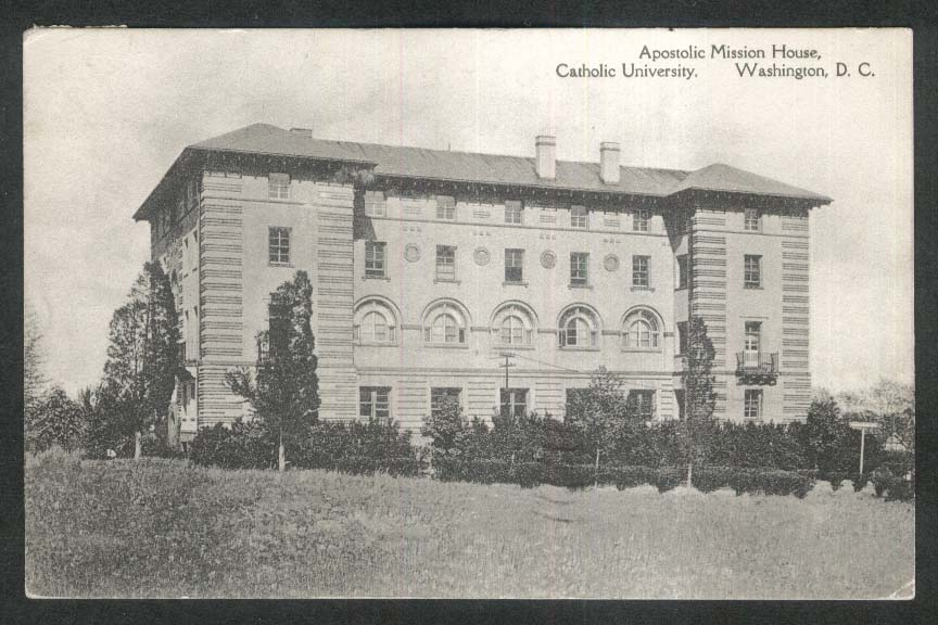 Apostolic Mission House Catholic University Washington DC postcard 1941