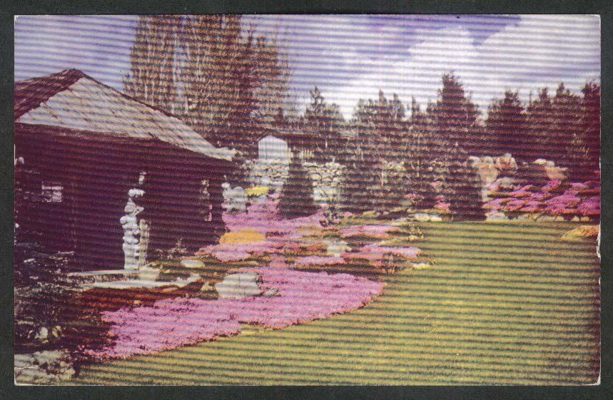 Ohme Garden-in-the-Sky Wenatchee WA postcard 1951