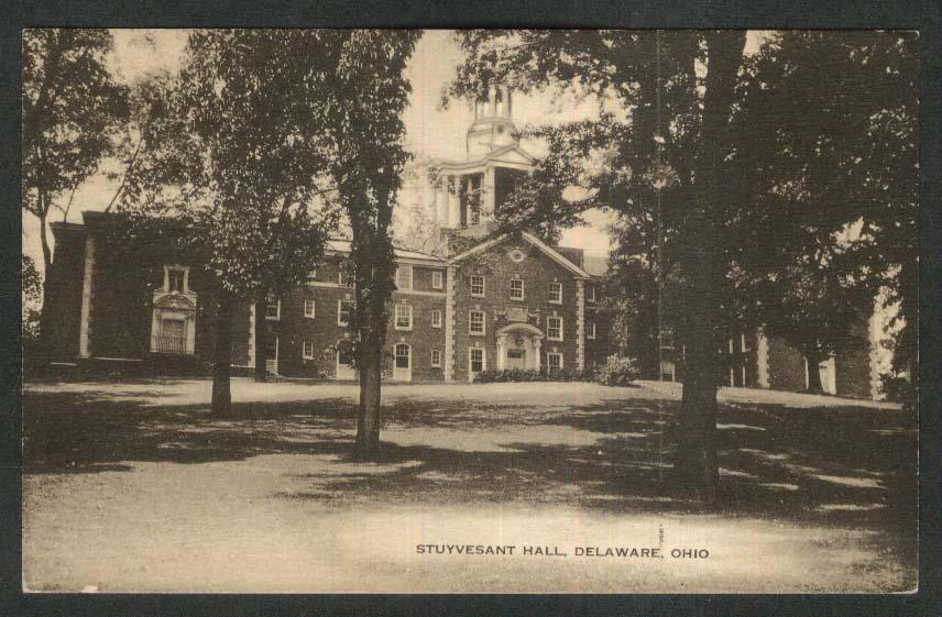 Stuyvesant Hall Delaware OH postcard 1936