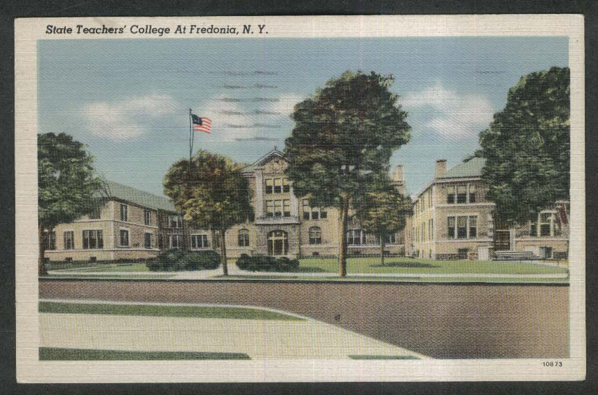 State Teacers College Fredonia NY postcard 1945