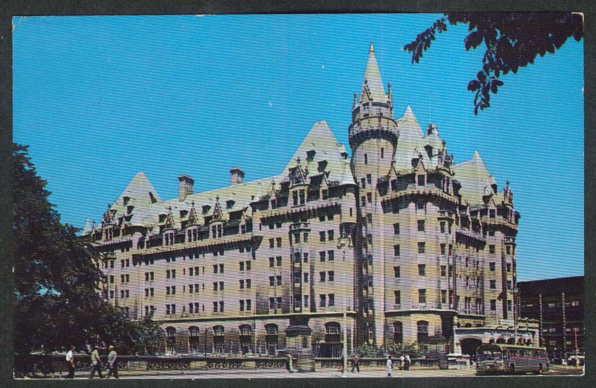 The Chateau Laurier Hotel Ottawa Ontario Canada postcard 1972