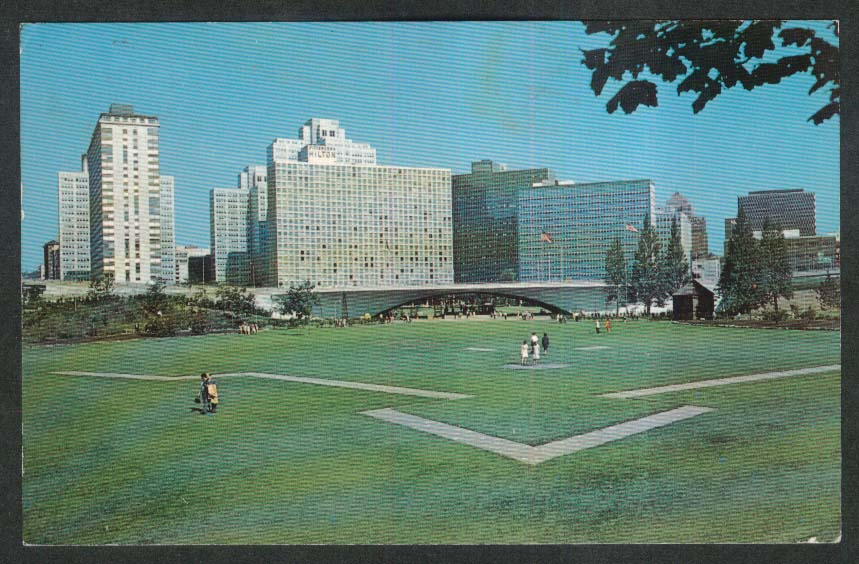Fort Pitt Block House Point State Park Pittsburgh PA postcard 1969