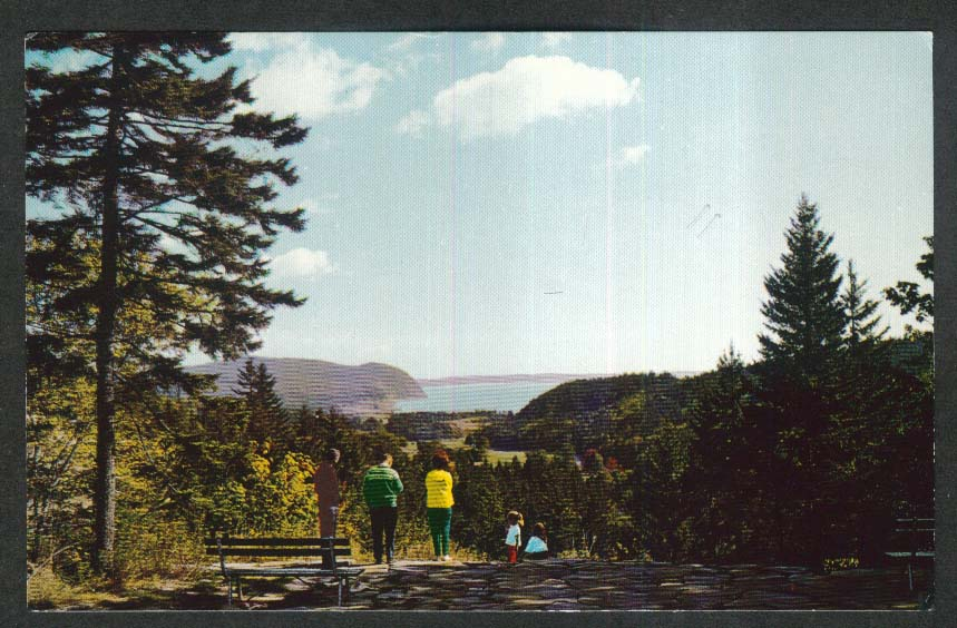 Owl's Head & Bay of Fundy National Park Alma New Brunswick Canada postcard 1970