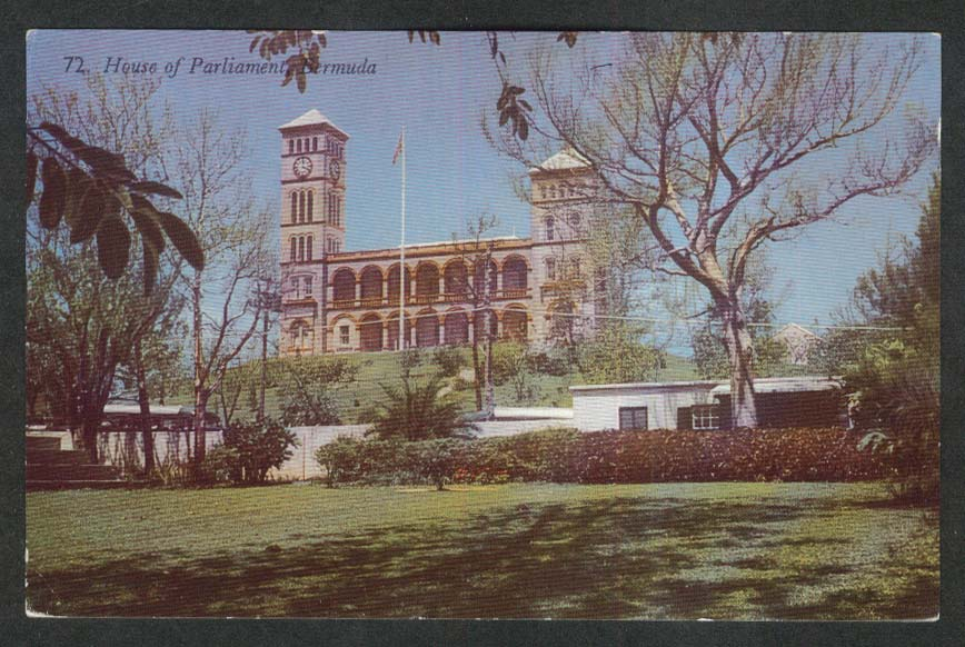 House of Parliament Bermuda postcard 1950s