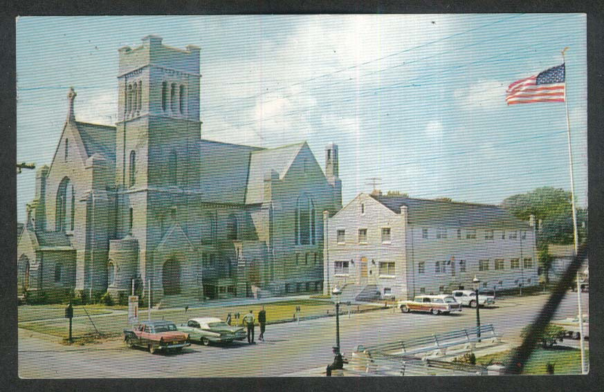 Church of Our Lady Roman Catholic Star of the Sea Cape May NJ postcard 1969