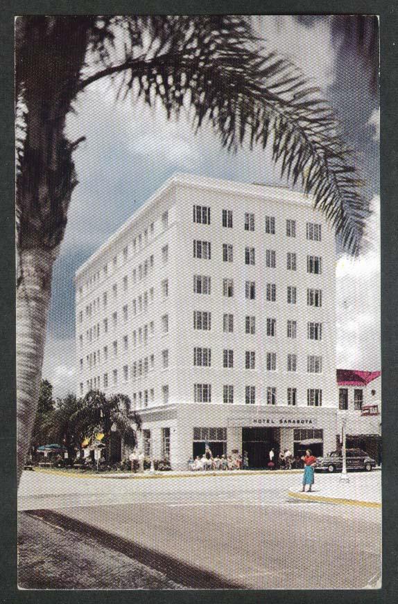 Hotel Sarasota Sarasota FL postcard 1951