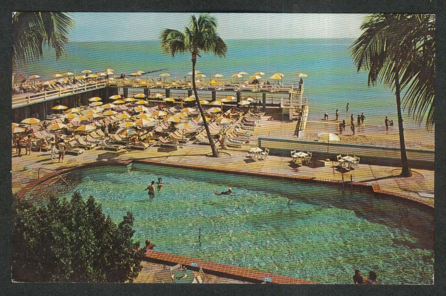 The Crown Hotel 40th 41st Miami Beach FL postcard 1965