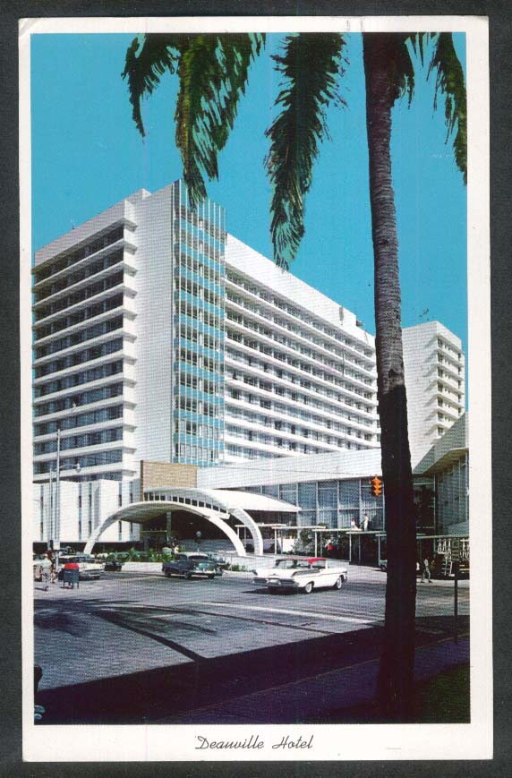 Deauville Hotel Collins & 67th Miami Beach FL postcard 1961