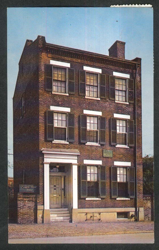 Eugene Field House St Louis MO postcard 1953