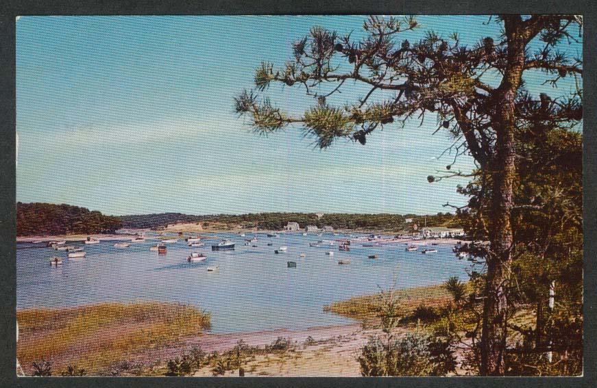 Ryders Cove Chatham Port Cape Cod MA postcard 1971