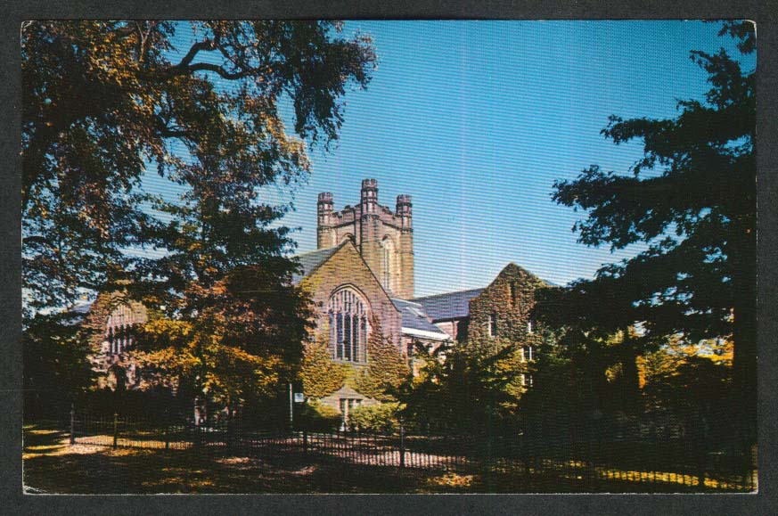 Williston Memorial Library Mount Holyoke College South Hadley MA postcard 1968