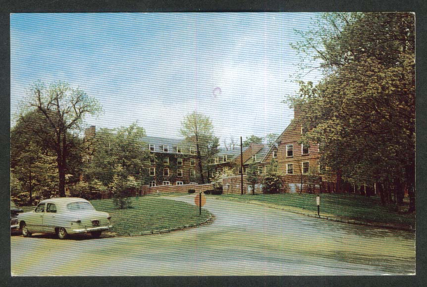 Curtis Hall Denison University Granville OH postcard 1973