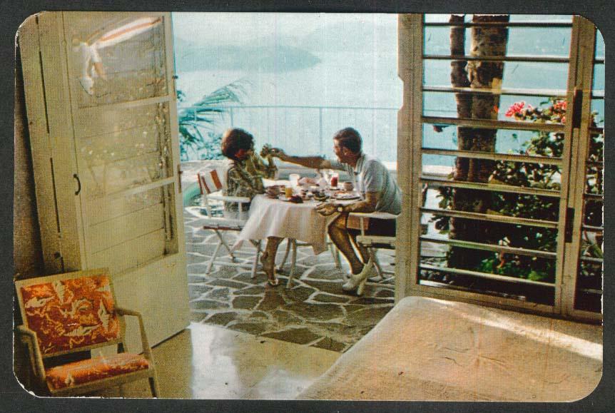 Continental Breakfast Las Brisas Hotel Acapulco Mexico postcard 1965