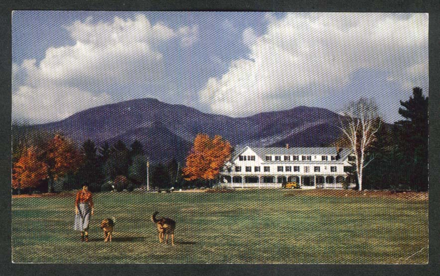 The Waterville Inn White Mountain National Forest NH postcard 1950s