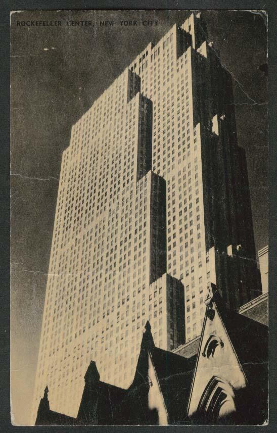 Rockefeller Center New York City NY postcard 1950s