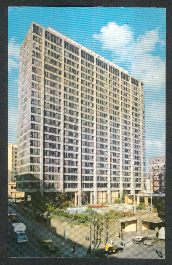 The Portland Hilton Hotel Portland OR postcard 1974