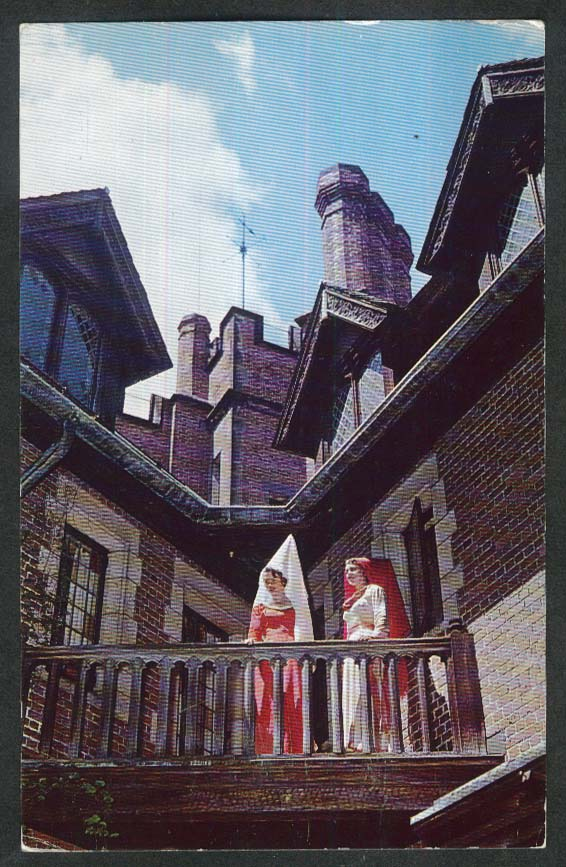 Stan Hywet Hall North Portage Path Akron OH postcard 1963