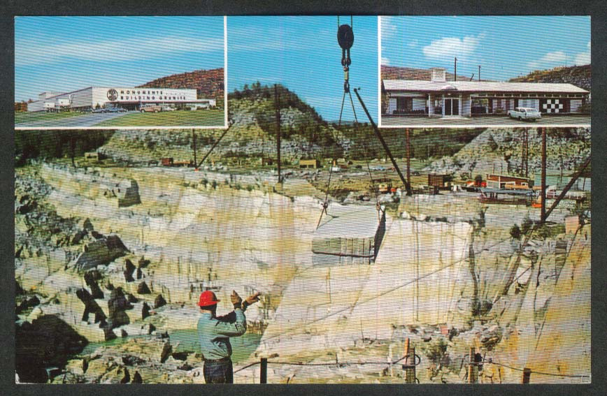 Rock of Ages Granite Quarry Barre VT postcard 1965
