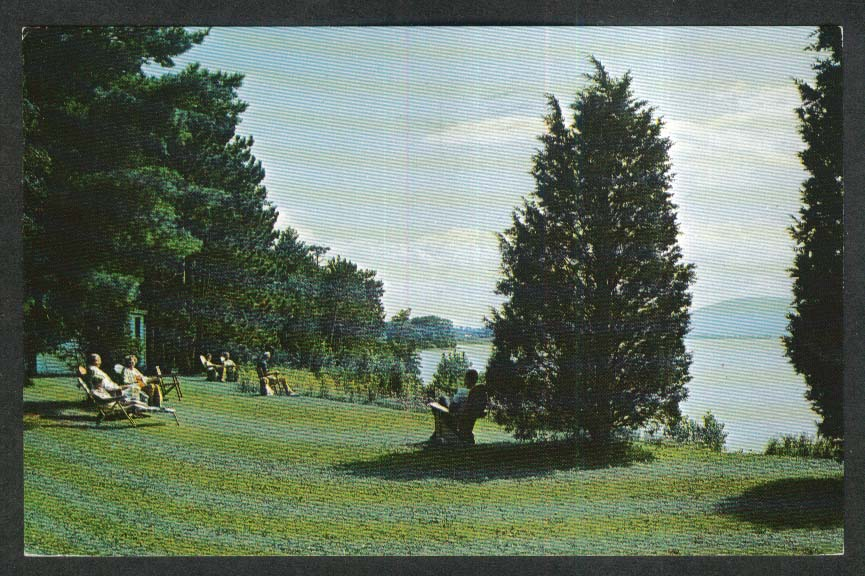 Owl's Head Harbor Lake Champlain Vergennes VT postcard 1970