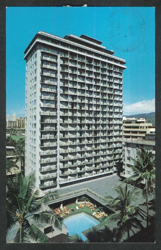 Waikiki Village Hotel Honolulu Hawaii postcard 1976