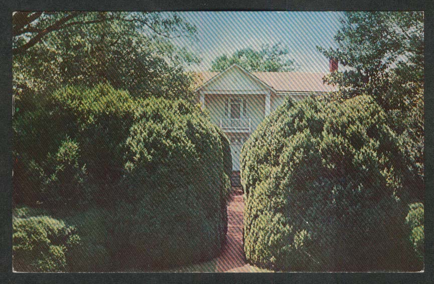 Ash Lawn Home of James Monroe Charlottesville VA postcard 1965
