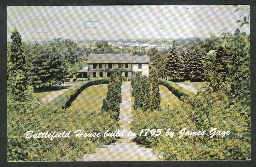 James Gage Battlefield House Stoney Creek Ontario Canada postcard 1962