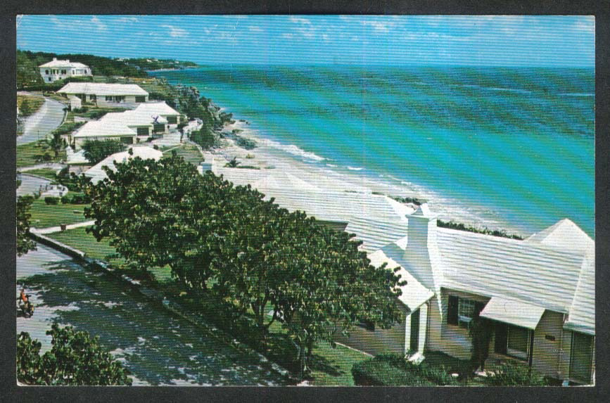 Pink Beach Club & Cottages Tucker's Town Bermuda postcard 1977