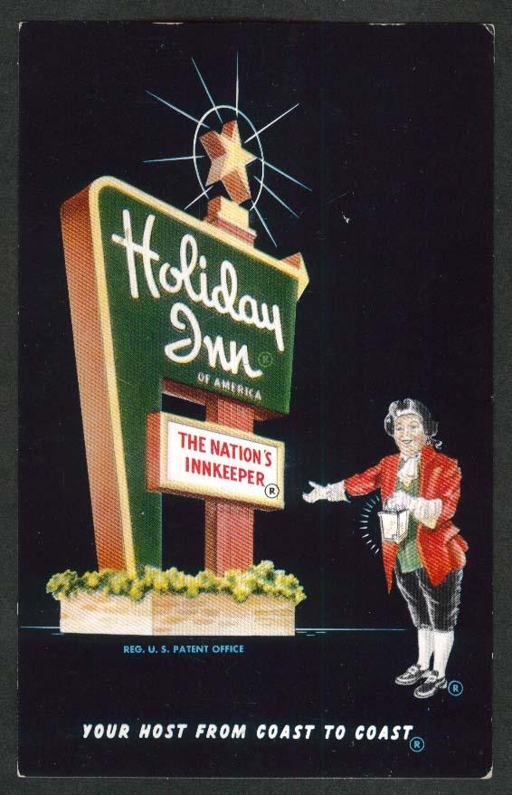 Holiday Inn 900 Broadway Drive Hattiesburg MS postcard 1959