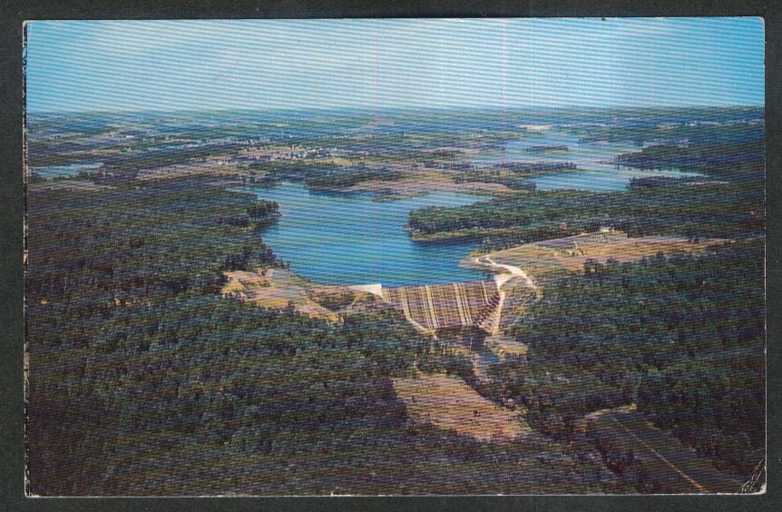 Liberty Dam Baltimore County MD postcard 1967