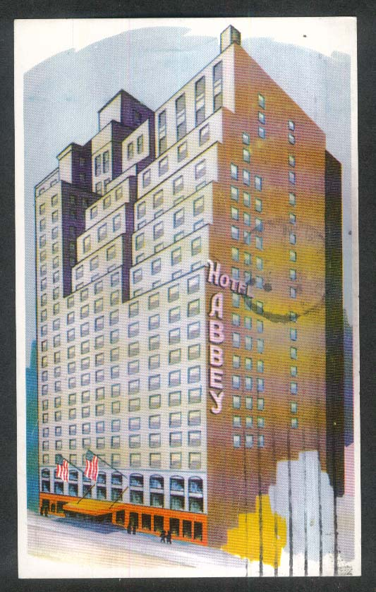 Hotel Abbey 51st Street New York City NY postcard 1951