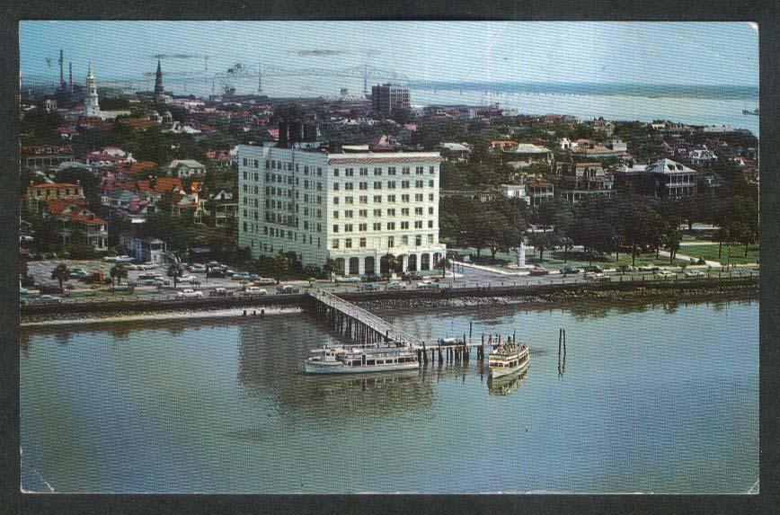 Sheraton-Fort Sumter Hotel Charlestown SC postcard 1970