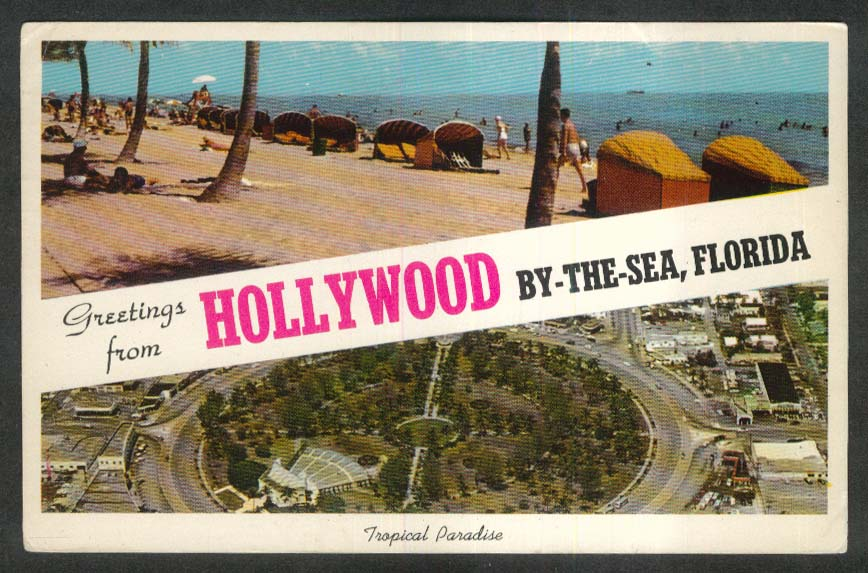 Tropical Paradise Hollywood By-The-Sea FL postcard 1966