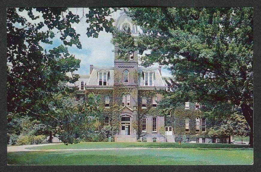 Woodburn Hall University of West Virginia Morgantown WV postcard 1968