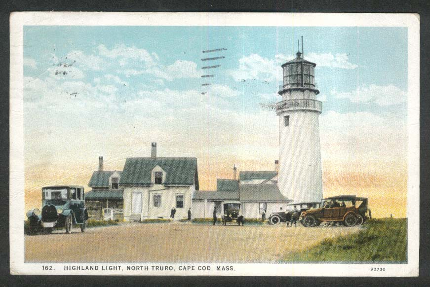 Highland Light North Truro Cape Cod MA postcard 1927