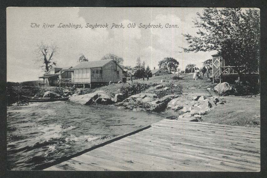 The River Landings Saybrook Park Old Saybrook CT postcard 1909