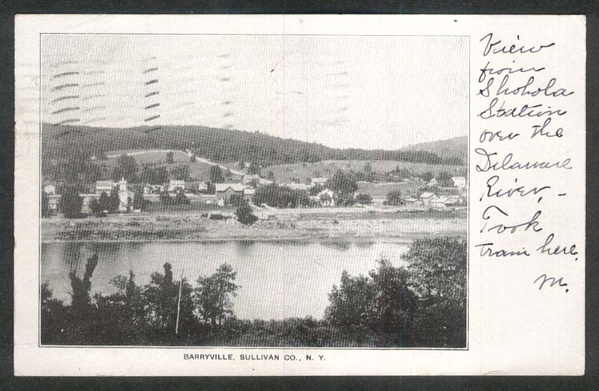 Barryville Sullivan Co NY undivided back postcard 1905