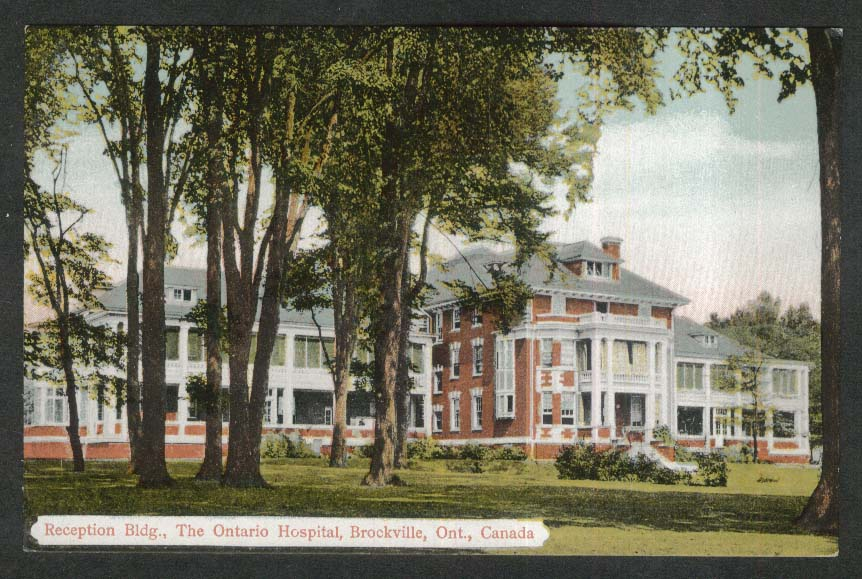 Reception Building Ontario Hospital Brockville Canada postcard 1910s