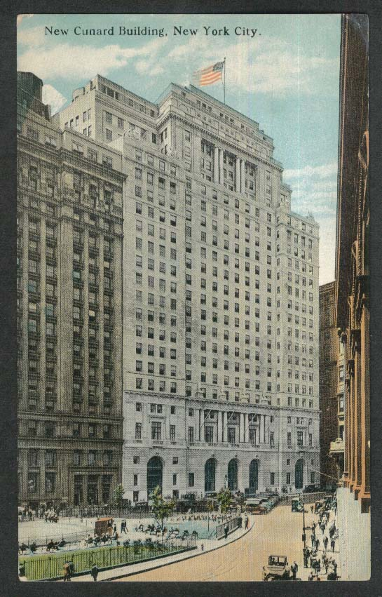New Cunard Building New York City NY postcard 1920s