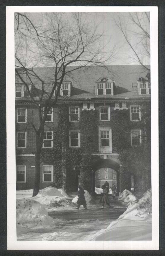 Dormitory Smith College Northampton MA RPPC postcard 1940s