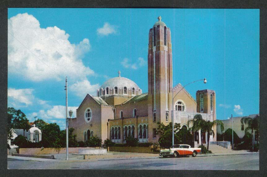 St Nicholas Greek Orthodox Church Tarpon Springs FL postcard 1950s