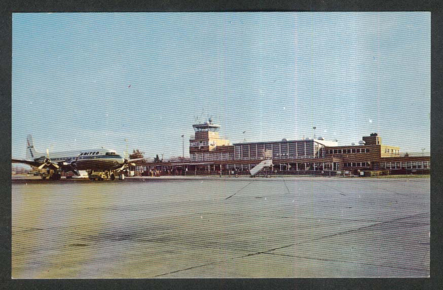 St Joseph County Airport Bendix Field South Bend IN postcard 1950s